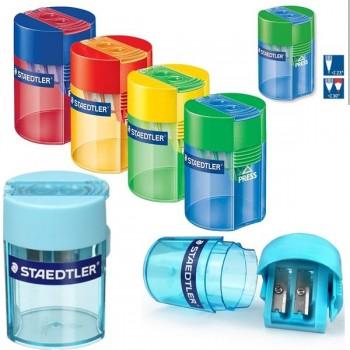 Afilalápices plástico deposito transparente con Afilalápiz metálico, para 10,2 mm