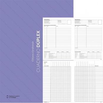 F7I Cuaderno duplex evalucion y tutoria con  Funda Portadocumentos y calendario