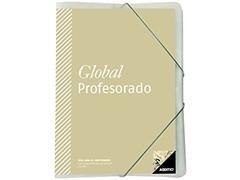 Carpeta global con Agenda tutoria evaluación programación Regla Separadores y 4 Fundas