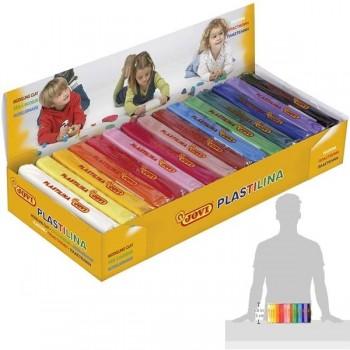 Caja 15 pastillas de plastilina Jovi 150grs colores surtidos