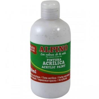 ALPINO Tempera liquida 250ml. acrilica BLANCO