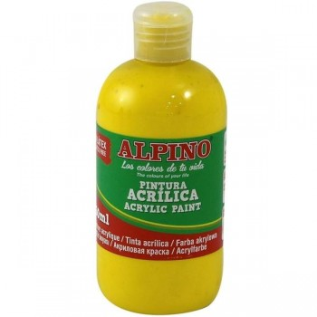 ALPINO Tempera liquida 250ml. acrilica AMARILLO