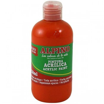 ALPINO Tempera liquida 250ml. acrilica NARANJA