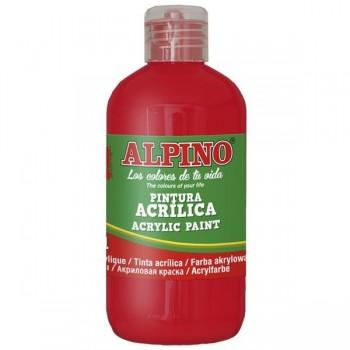 ALPINO Tempera liquida 250ml. acrilica ROJO