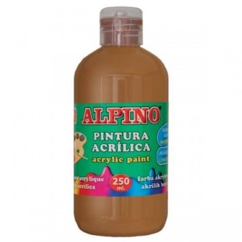 ALPINO Tempera liquida 250ml. acrilica MARRON