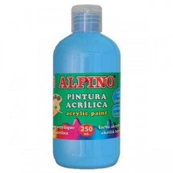 ALPINO Tempera liquida 250ml. acrilica AZUL CYAN