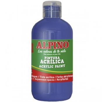 ALPINO Tempera liquida 250ml. acrilica AZUL ULTRAMAR