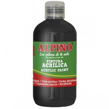 ALPINO Tempera liquida 250ml. acrilica NEGRO