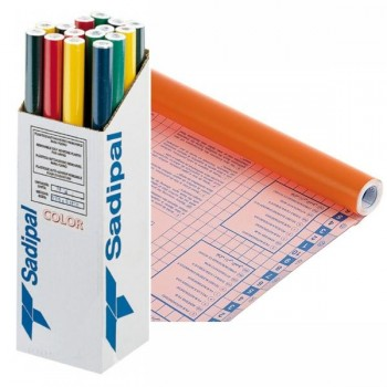 Rollo forro Libros autoAdhesivos 100 micras 0,50X3M naranja