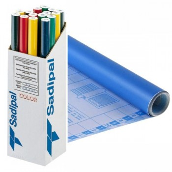 Rollo forro Libros autoAdhesivos 100 micras 0,50X3M azul palido