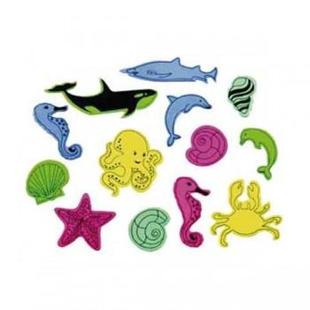 SMART Pack 50 figuras goma eva adhesivas animales acuaticos
