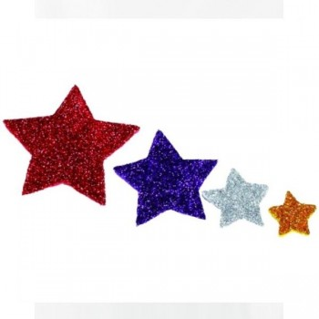 SMART Pack 54 figuras goma eva adhesivas con purpurina estrellas