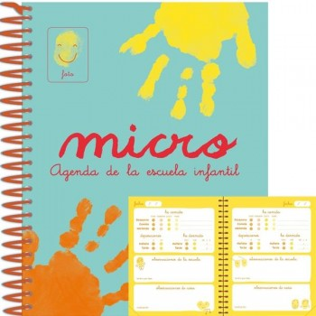 Agenda escuela infantil micro dia página