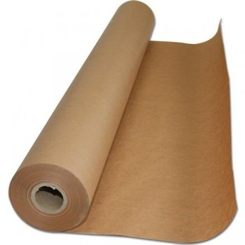Rollo papel embalaje kraft  ancho 1,10m 41k 500m marrón