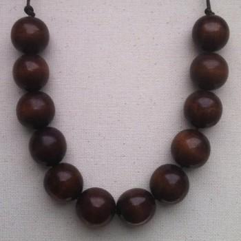 Bolsa de abalorios de madera 82 piezas de madera marrón 12mm