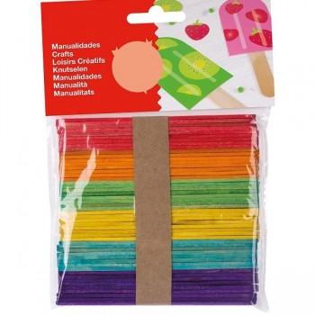 Bolsa 100 unid. palillos polo colores surtidos
