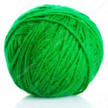 Bolsa 4 ovillos lana gama color verde