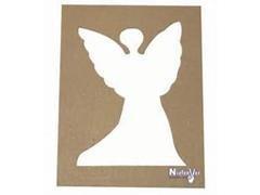 Pack 4 unid. de forma de ángel de cartón rígido
