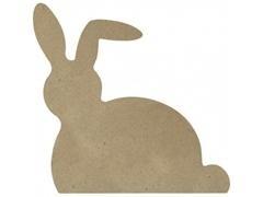 Pack 4 unid. de forma de conejo de cartón rígido