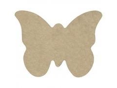 Pack 4 unid. de forma de mariposa de cartón rígido