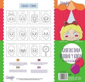Pack 12 caretas cuento Blancanieves