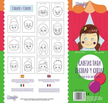 Pack 14 caretas la familia
