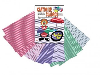 Bolsa 12 láminas cuadrados cartones para decorar 24x32 cm colores normales