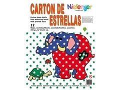 Bolsa 12 láminas estrellas cartones para decorar 24x32 cm colores normales