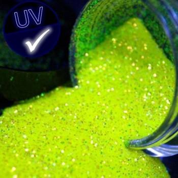 Bote 45 gr. purpurina con dosificador fluorescente amarillo