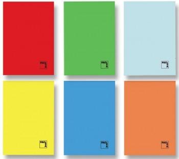 Libreta grapada PACSA folio 70gr 50h cuadricula pauta 3,5 colores surtidos