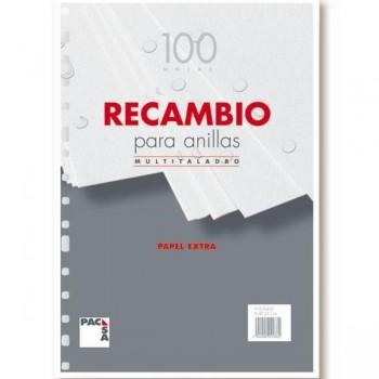 Recambio 100h folio 4 Taladros cuadricula 4