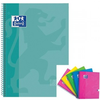 Cuaderno espiral microperfonado 80h 5x5 A4+ verde hielo