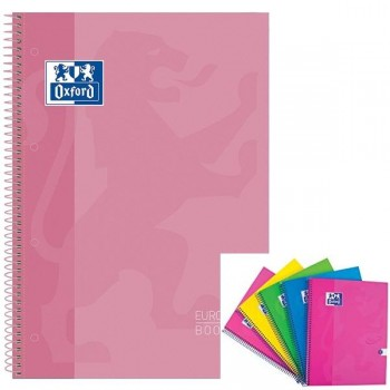 Cuaderno espiral microperfonado 80h 5x5 A4+ rosa claro