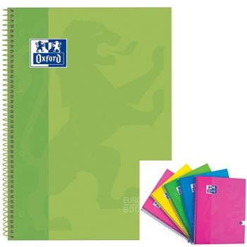 Cuaderno espiral microperfonado 80h 5x5 A4+ verde