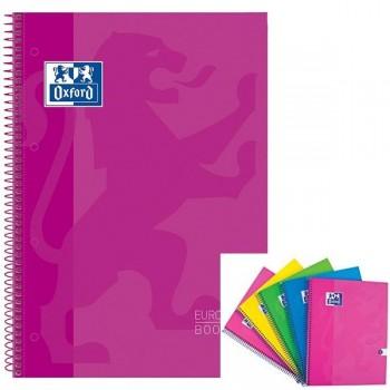 Cuaderno espiral microperfonado 80h 5x5 A4+ rosa