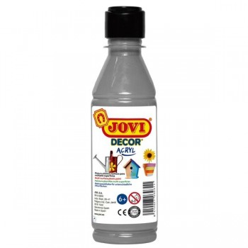 Bote de t mpera Jovidecor 250ml unicolor plata