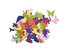 Pack 25 formas de animales en cartulinas de colores de 180gr, 30x25cm