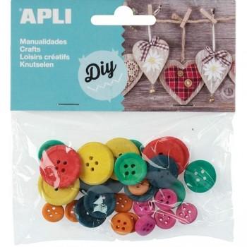 Pack 30 botones de tamaños variados colores surtidos