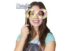 Pack 6 gafas para decorar de cartulina 300gr, tama o 185x70mm, incluye palos y gomas