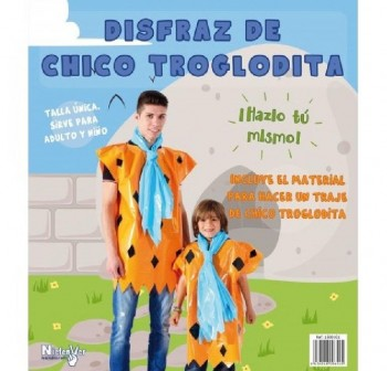 Bolsa para disfraz de chico troglodita, incluye material e instrucciones, talla  nica a medida v lid