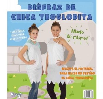 Bolsa para disfraz de chica troglodita, incluye material e instrucciones, talla  nica a medida v lid