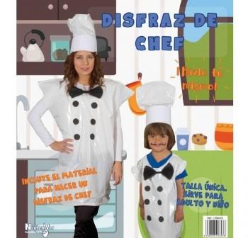 Bolsa para disfraz de chef, incluye material e instrucciones, talla  nica a medida v lida para adult