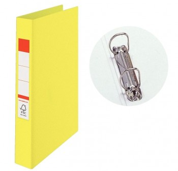 Carpeta 2 anillas 25mm cartón alto brillo folio amarillo