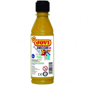 Bote de témpera Jovidecor 250ml unicolor oro