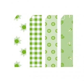 Papel para origami estampado surtido verde 10x10cm