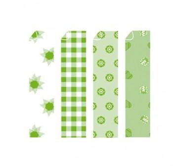 Papel para origami estampado surtido verde 14x14cm
