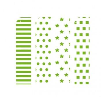 Papel para origami estampado geom trico verde 10x10cm