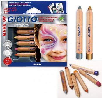 Estuche 6 lapices de maquillaje giotto make up colores glamour