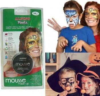 Maquillaje mousse Alpino Fiesta negro 14 gr.