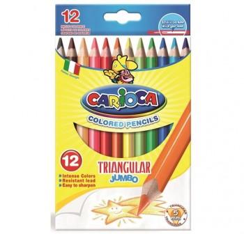 Caja 12 l pices de colores triangulares Carioca colores surtidos